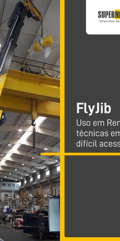 FlyJib –  Uso em Remoções técnicas em locais de difícil acesso