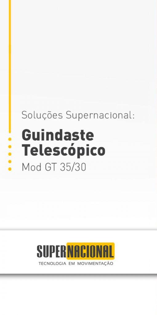 Soluções Supernacional: Guindaste telescópico Mod GT 35/30