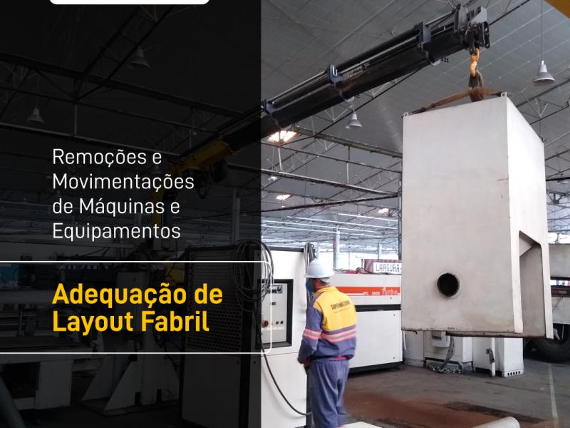 Remoções e movimentações de máquinas e equipamentos